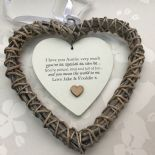 Shabby personalised Chic Special Auntie Aunty Aunt ~ ANY NAME Willow Heart Gift - 253984992596